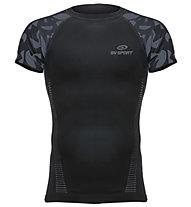BV Sport Rtech - maglia running a compressione - uomo, Black/Grey