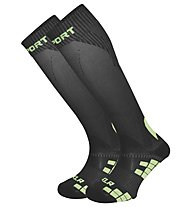 BV Sport XLR Calze a compressione multisport, Black/Light Green