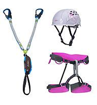 Camp Kit donna composto da set via ferrata + imbrago + casco