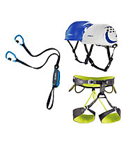 Camp Kit composto da set via ferrata + imbrago + casco