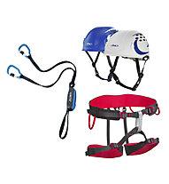 Camp Kit composto da set via ferrata + imbrago + casco