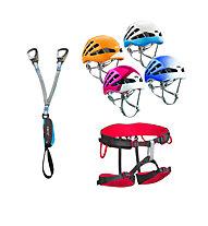 Camp Kit composto da set via ferrata + imbrago + casco a scelta
