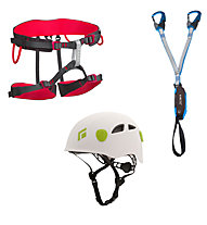 Camp Kit composto da imbrago + set via ferrata + casco