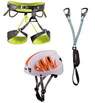 Camp Kit composto da imbrago + set via ferrata + casco