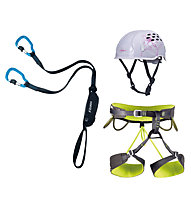 Camp Kit donna composto da set via ferrata + imbrago + casco