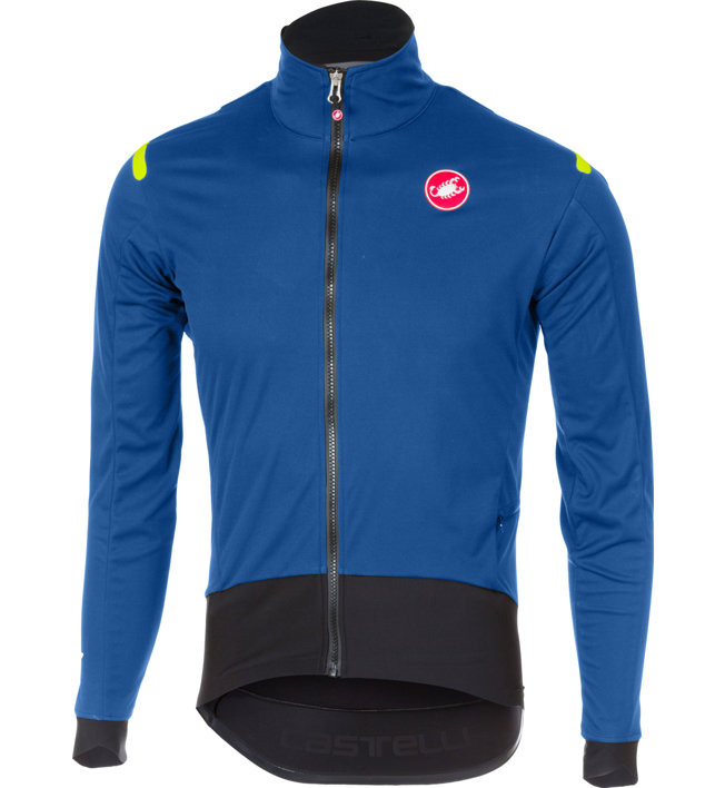 Castelli Alpha Ros Light - giacca bici - uomo, Light Blue/Black