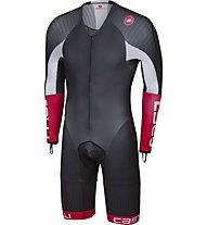 Castelli Body Paint 3.3 Speed Suit LS - Bike Komplet - Herren, Black/White