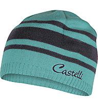 Castelli Campiglio Knit Cap - berretto bici da donna, Pastel Blue/Anthracite