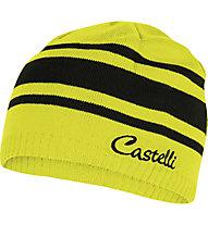 Castelli Campiglio Knit Cap Damen-Radmütze, Black/Yellow