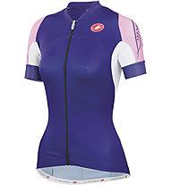 Castelli Certezza Jersey FZ - Maglia Ciclismo, Violet/Pink