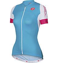 Castelli Certezza Jersey FZ Damen-Radtrikot, Atoll Blue/White