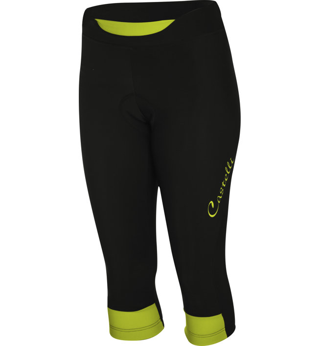 Castelli Chic - pantaloni bici - donna, Black/Yellow