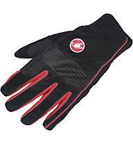 Castelli Chiro 3 Glove WINDSTOPPER Rad-Handschuhe, Black/Red