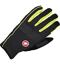 Castelli Chiro 3 Glove WINDSTOPPER Rad-Handschuhe, Black/Yellow Fluo