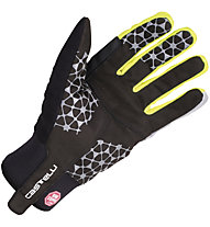 Castelli Chiro 3 Glove WINDSTOPPER Rad-Handschuhe, Black/Yellow