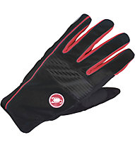 Castelli Chiro 3 Glove WINDSTOPPER Rad-Handschuhe, Black/Red