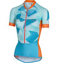 Castelli Climber's W Jersey - Radtrikot - Damen, Blue/Orange
