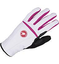 Castelli Cromo Glove - Guanto bici da donna, White/Magenta