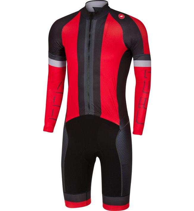 Castelli Cx Sanremo - tuta ciclismo, Red/Black