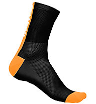 Castelli Distanza 9 - calzini bici, Black/Orange