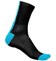 Castelli Distanza 9 - Socken, Black/Blue