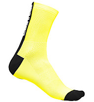 Castelli Distanza 9 - calzini bici, Yellow/Black