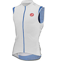 Castelli Entrata 2 Sleeveless FZ Top ciclismo, White/Drive Blue