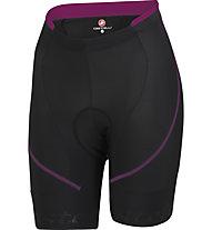 Castelli Evoluzione W Short - Pantaloncini Ciclismo, Black/Magenta