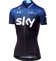 Castelli Team Sky 2019 Fan 19 - maglia bici - donna, Black/Blue