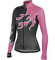 Castelli Fiamma Jersey, Anthracite/Pink