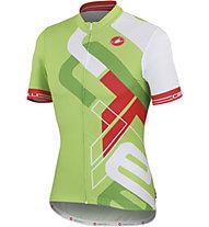 Castelli Frammenti Jersey FZ - Maglia Ciclismo, Lime