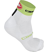 Castelli Free 6 Sock, White/Lime