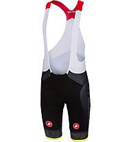 Castelli Free Aero Race - pantaloni bici con bretelle - uomo, Black/Yellow