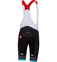 Castelli Free Aero Race - pantaloni bici con bretelle - uomo, Black/Light Blue