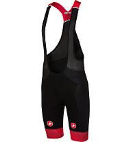 Castelli Free Aero Race - pantaloni bici con bretelle - uomo, Black/Red