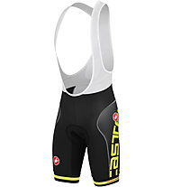 Castelli Free Aero Race Bibshort Printed Version, Black/Yellow Fluo