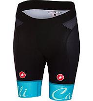 Castelli Free Aero - pantaloni corti bici - donna, Black/Light Blue