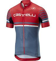 Castelli Free Ar 4.1 Jersey FZ - Radtrikot - Herren, Red/Blue