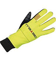 Castelli Gara Midweight Glove WINDSTOPPER Fahrradhandschuh, Yellow Fluo/Black