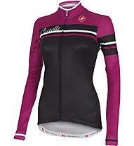 Castelli Girone Jersey FZ langärmliges Vintage Damen-Radtrikot, Black/Cyclamen