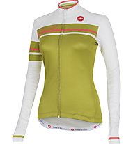 Castelli Girone Jersey FZ - maglia bici da donna, White/Olive Green