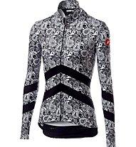Castelli Goccia - maglia bici a maniche lunghe - donna, Black/White
