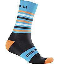 Castelli Gregge 15 - calzini bici, Black/Blue/Orange