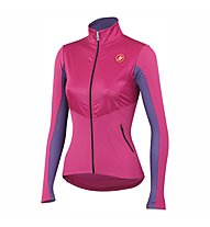 Castelli Illumina Jersey FZ - maglia bici per donna, Magenta