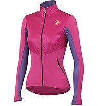 Castelli Illumina Jersey FZ langärmliges Damen-Radtrikot, Pink