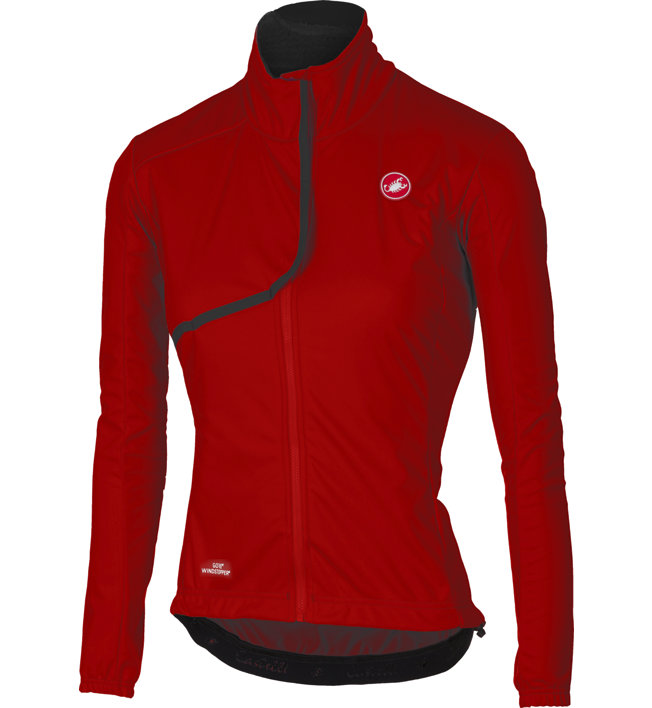 Castelli Indispensabile - giacca bici - donna, Red