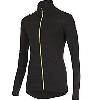 Castelli Meccanico Sweater - maglia ciclocross, Vintage Black/Sprint Green