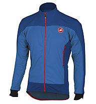 Castelli Mortirolo 4 - giacca bici - uomo, Blue/Light Blue
