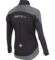 Castelli Mortirolo Reflex Jacket WINDSTOPPER-Radjacke, Anthracite/Red/Reflex