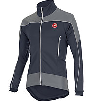 Castelli Mortirolo Reflex Jacket WINDSTOPPER-Radjacke, Blue Night/White/Reflex